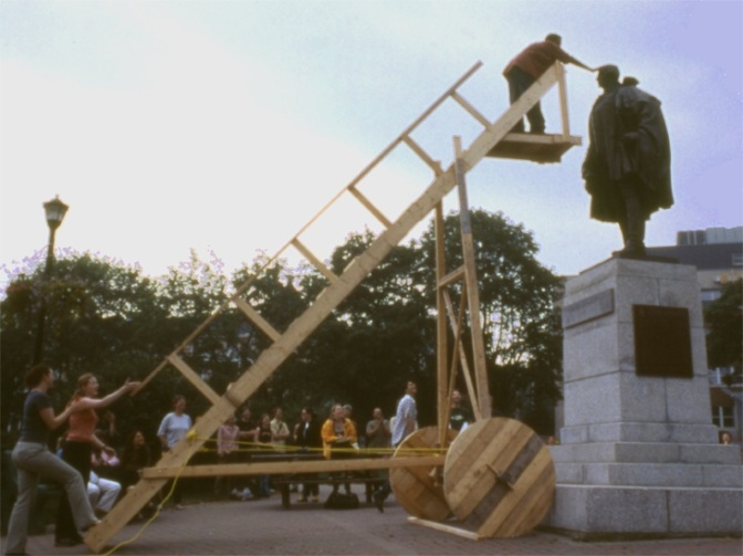 Richard Kroeker, Eye Level (2002), public intervention. Photo: Courtesy of the artist.