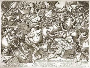 Pieter Breughel the Elder, The Battle of the Moneybags and the Strongboxes (or, The Fight Over Money), after 1570