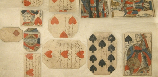 Playing cards, signed by the governor, used as currency in French Quebec, roughly between 1685 and 1728