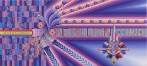 "The Exchangehibition Bank ""One Million"" bill - http://blog.artasmoney.com/"