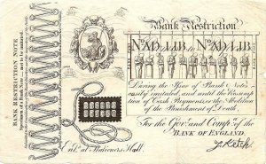 George Cruikshank, Bank Suspension Note, 1819