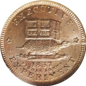 "A ""Hard Times"" token from 1837"