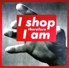 Barbara Kruger, Untitled (I shop therefor I am), 1987