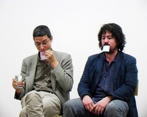 Cesare Pietroiusti (with Paul Griffiths), Eating Money, 2007