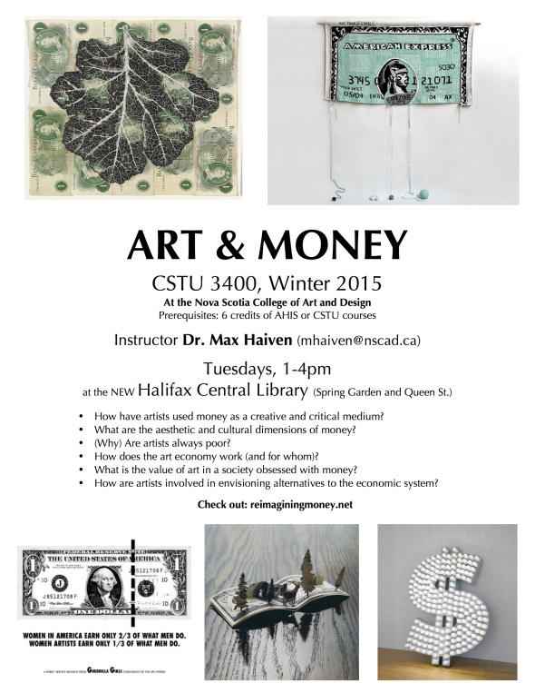ART AND MONEY poster 2015