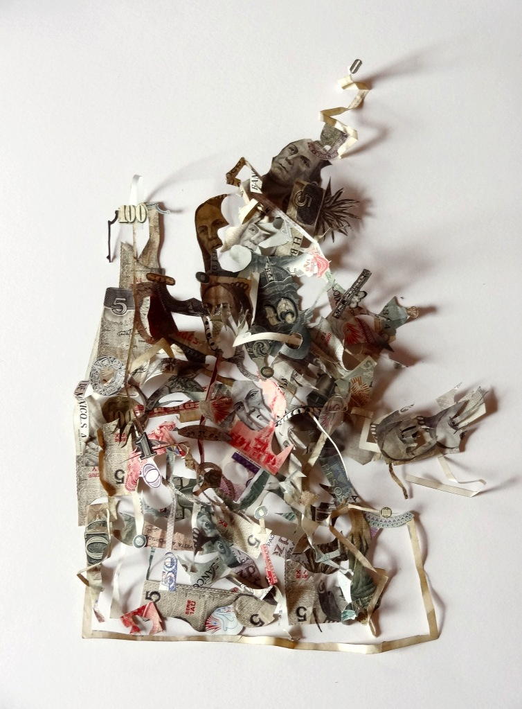 Figure 13 - Máximo Gonzáles, Basura Sin Paisaje (Landfill Without Landscape), 2012. Detail. Out-of-circulation money. Courtesy of the artist..