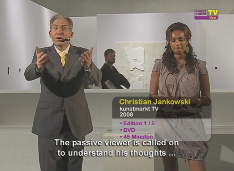 Figure 4 - Christian Jankowski, Kunstmarkt TV, 2008. Video (still). Courtesy of the artist.